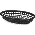 Tablecraft - Classic Black Oval Food Basket | Public Kitchen Supply