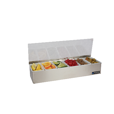 San Jamar - 6-Pint Gourmet Garnish Tray | Public Kitchen Supply
