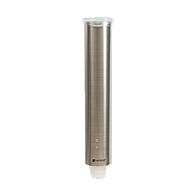 San Jamar - Small Pull-Type Cup Dispenser (SS) | Public Kitchen Supply