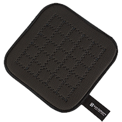 "San Jamar - 7"""" Ultigrips Hot Pads (Black) 