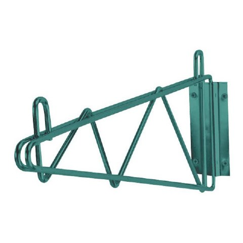 "Iron Guard-24"""" Green Epoxy Wall Mount Brackets -Set of 2