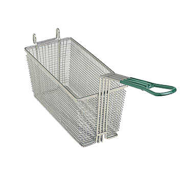 "Update International - 13"""" x 5"""" x 5"""" Wire Fry Basket 