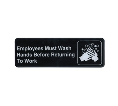 Update International - Employees Must Wash Hands Sign | Public Kitchen Supply
