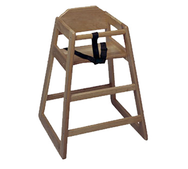 Update International - Unassembled Walnut High Chair | Public Kitchen Supply
