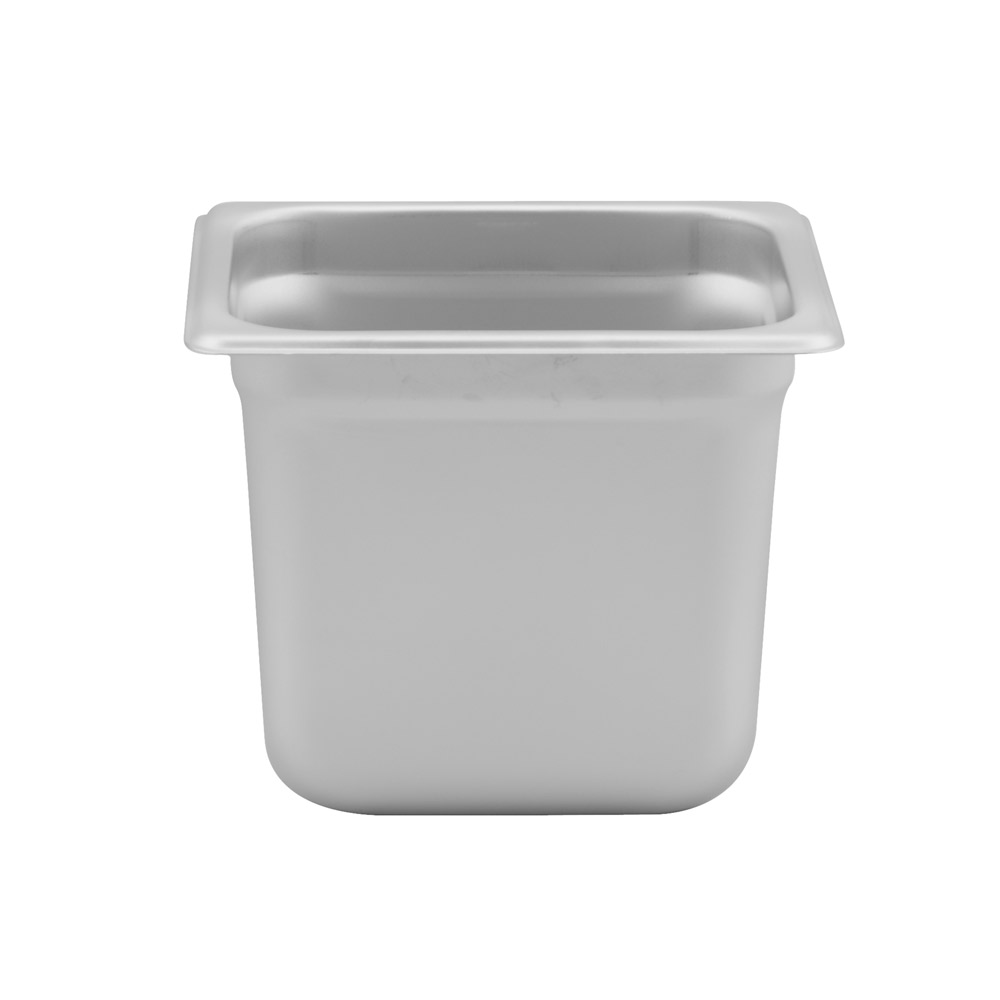 "Browne - 1/6 Size x 6"" Deep Food Pan (SS) 