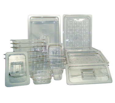 Update International - 1/6 Size Clear Food Pan Cover | Public Kitchen Supply
